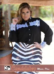 Brazilian Plus Size Lookbook Candelabro. Winter, 2015-16