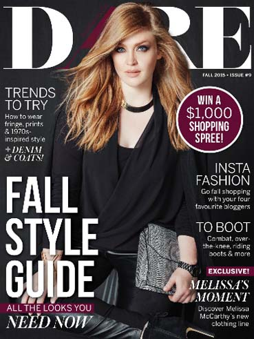 Canadian Plus Size Magazine Dare. Fall, 2015