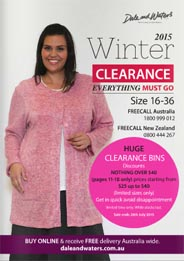 Australian Plus Size Catalog Dale and Waters. Fall-Winter, 2015-2016