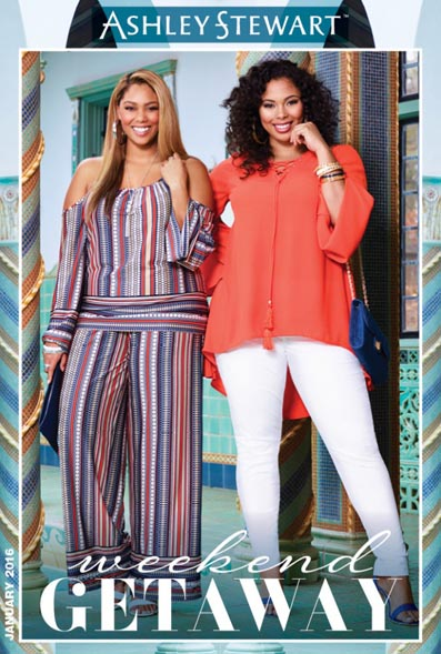Plus Size Lookbook by American Brand Asnley Stewart, January 2016