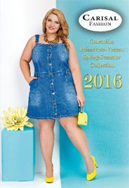 Plus Size Lookbooks by Spanish Brand Carisal Fashion, Spring-Summer 2016