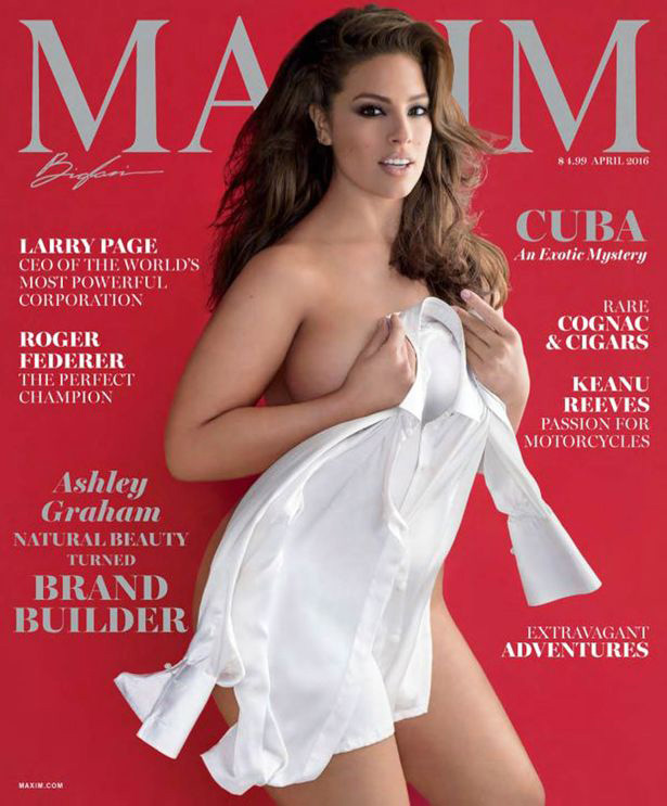 The Plus-size Model Was for the First Time Removed Topless for Maxim Cover