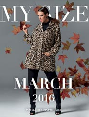 Plus size Lookbooks by Australian Brand My Size. March-April, 2016