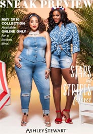 Plus Size Lookbook by American Brand Ashley Stewart, May 2016
