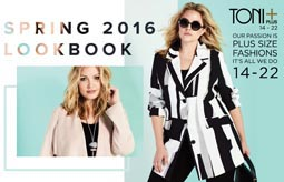 Plus Size Lookbook by Canadian Brand Toni Plus, Spring 2016