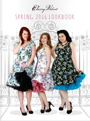Plus Size Lookbooks Dresses in Pin Up Style by Canadian Brand Cherry Velvet, Spring-Summer 2016