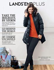 Plus Size Holiday Catalog by American Brand Lands' End, 2017
