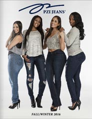 Plus Size Lookbooks by American Brand PZI Jeans, Fall-Winter 2016-2017