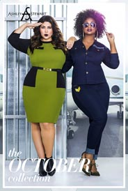 Plus Size Lookbook by American Brand Ashley Stewart, October 2016