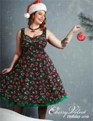 Plus Size Holiday Lookbook by Canadian Brand Cherry Velvet, 2016
