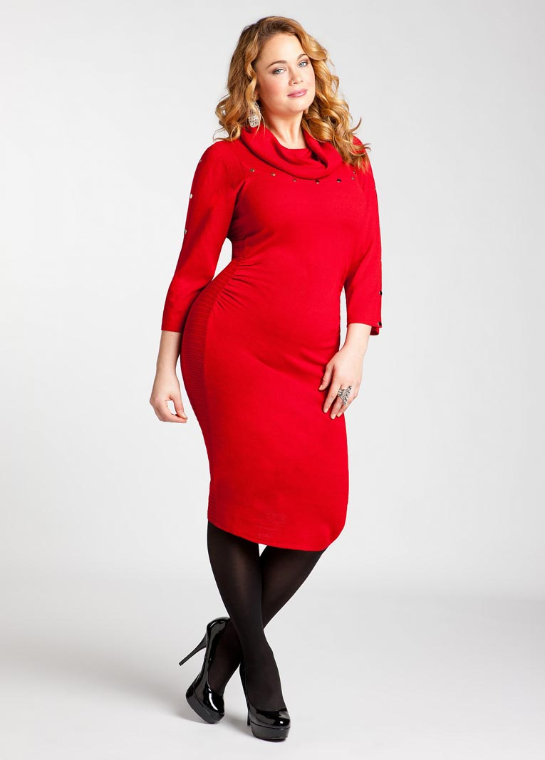 plus size attire crimson
