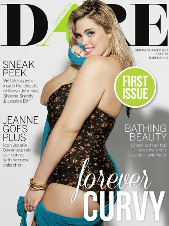 Canadian Plus Size Magazine DARE. Spring-Summer 2013
