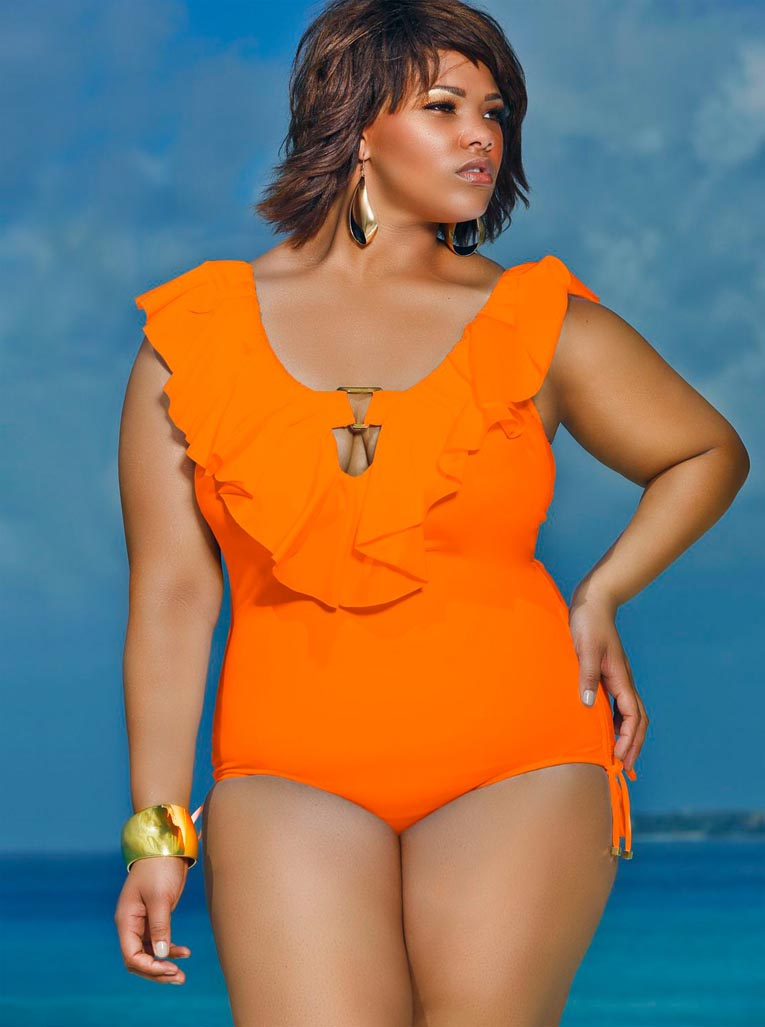 Monif C. Plus Sizes Swim 2013