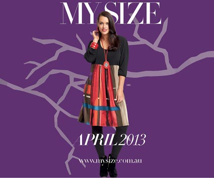 "Australian Catalogs Plus Size ""My Size"". April 2013"