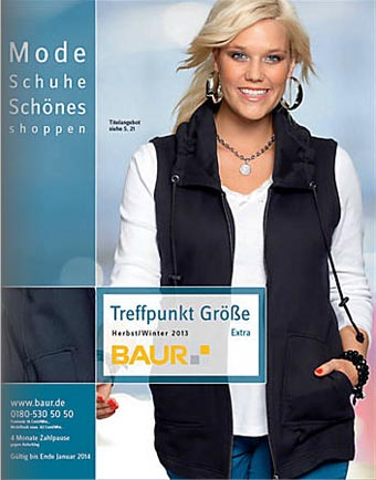 German Catalog Plus Size Baur Treffpunkt Größe Extra. Autumn-Winter 2013-2014