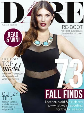 Canadian Plus Size Magazine DARE. Fall 2013