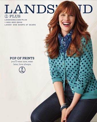 American Сatalog Plus Size Lands' End. Fall 2013