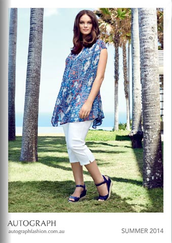 Plus Size Lookbook of the Australian Brand Autograph. Spring-summer 2015