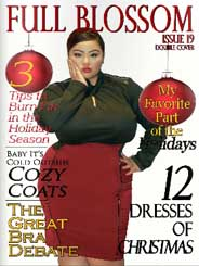 Plus Size Magazine Full Blossom. December 2014