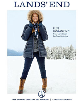 American Сatalog Plus Size Lands' End. Winter 2014-2015