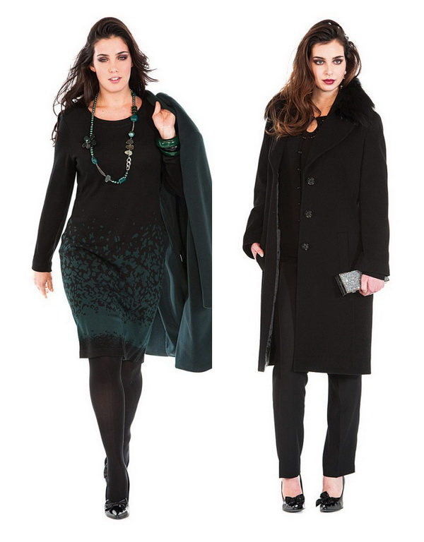 Women's Plus Size Jackets & Coats by Italian Brand Luisa Viola. Winter 2015
