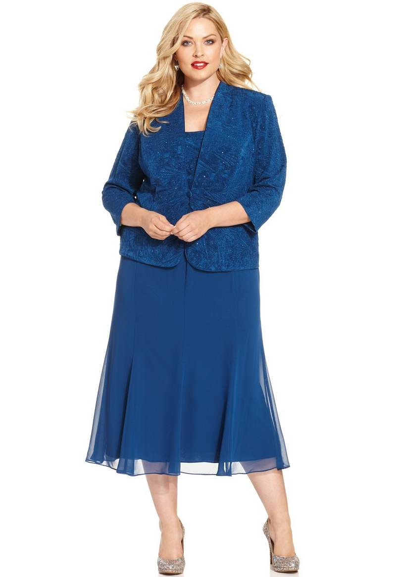 Alex Evenings Plus Size Dresses and Jackets. Spring-Summer, 2015