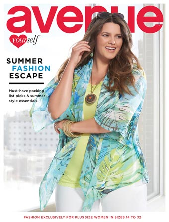 Avenue Plus Size Lookbooks. Summer, 2015