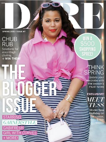 Canadian Plus Size Magazine Dare. Spring 2015