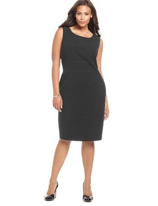 Calvin Klein Plus Size Dresses. Winter 2012